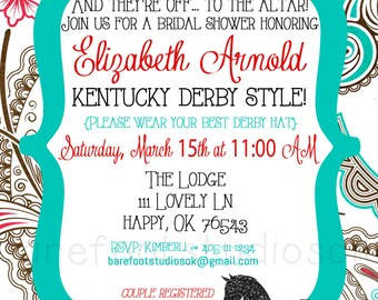 Kentucky Derby Party Invitation Kentucky Derby Shower