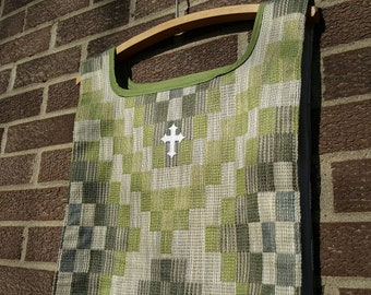 Green scapular monostole vestment for ordinary time for United Methodist clergy or lay leader
