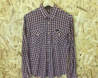 Wrangler jeans vintage plaid western shirt popper stud buttons gingham