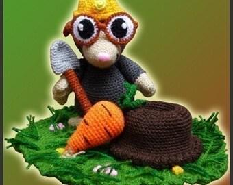 Amigurumi Pattern Crochet Eugene Mole DIY Digital Download