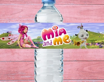 80% OFF SALE Water Bottle Label Mia and Me, mia and me birthday, mia and me party, mia and me printable
