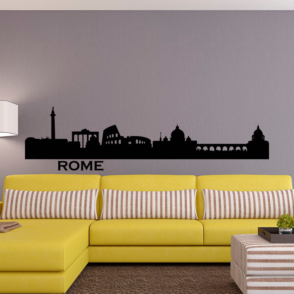 Rome Skyline Wall Decal City Silhouette Cityscape Italy Rome
