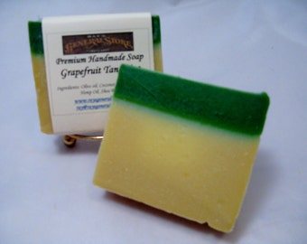 Grapefruit and Tangerine Premium Artisan Handmade Soap - Free Shipping