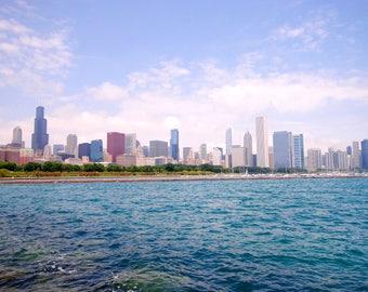 Travel Photography: Chicago Skyline Chicago, Illinois CANVAS