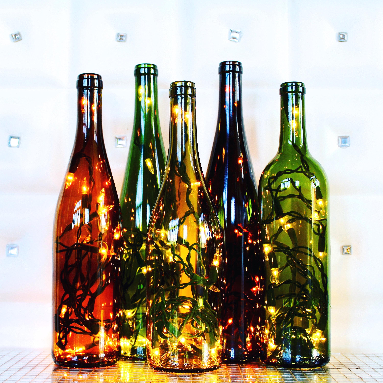 Recycled Wine Bottle Light - Gift for Her, Wine Gift, Wine Decor, Wine Bottle Lamp, Wine Bottle Decor, Summer Decor, Housewarming Gift, Bar