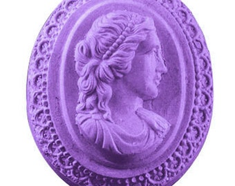 Cameo Soap, Guest Sized Soap, Novelty Soap, You pick scent & color