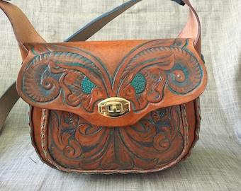 Handbag made by hand.