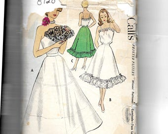 McCall's Misses' Petticoat and Camisole  Pattern 8728