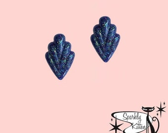 The 50s Classic earrings in indigo