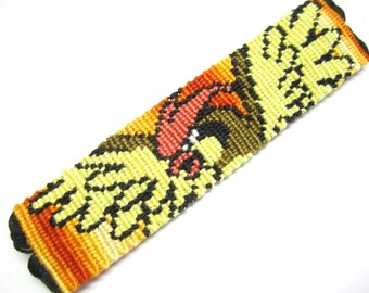 Pidgeotto Friendship Bracelet, Pidgeot Pokemon Bracelet, Sunset Gradient Bracelet, Wrist Cuff, Nintendo Video Game Bracelet, Anime Bracelet
