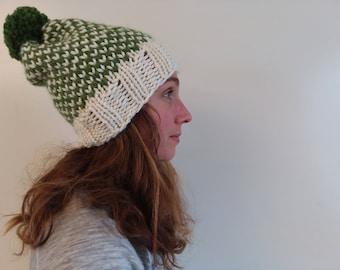 Kose Fair Isle Women's Slouchy Pom Pom Hat