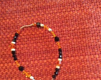 Pumpkin fall bracelet
