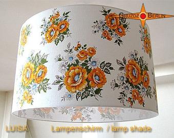 Vintage lamp shade flowerd LUISA Ø45 cm 60s lampshade