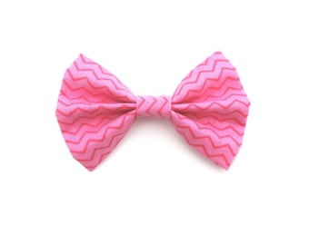 Hot Pink Fabric Bow Hair Clip or Bow Tie - Summer Bow - dainty and Dapper
