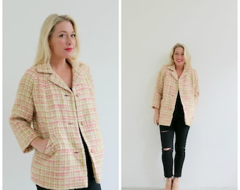 1960s Frank Gallant Sherbert Coat  // Size Extra Small to Small