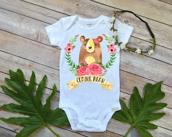 Baby Bear Bodysuit, Custom Name Gift, Baby Shower Gift, Custom Baby Gift, Take Home Outfit, Personalized Baby Gift, Niece Gift, Newborn Gift