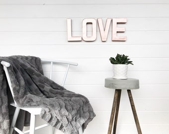 girly office decor. Rose Gold Love Sign, Letter, Sign Girly Office Decor E
