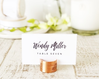 Brush Script Place Card Template, Printable Escort Cards, Calligraphy, Word or Pages, Mac or PC, Instant DOWNLOAD