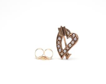 10k Victorian Lovestruck Stud Earring