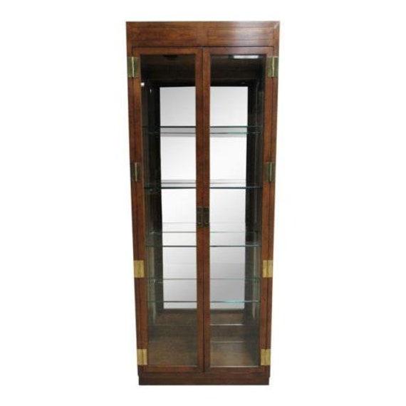 Henredon Campaign Scene One Curio Display Cabinet China Hutch E