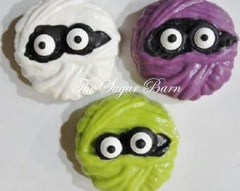MUMMY CHOCOLATE Covered OREO® Cookies*12 Count*Halloween Party Favor*Trick or Treat