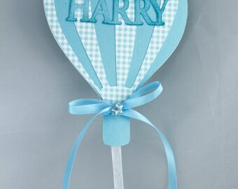 Baby announcement hot air balloons