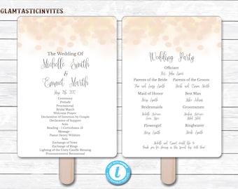 Wedding Program Template, INSTANT DOWNLOAD, You Edit, Ceremony Program Template, Wedding Program, Wedding Template, DIY, Bokeh Program