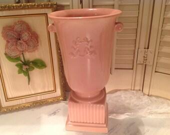 Beautiful Pink Vase Vintage Trophy Cup Wreath Abingdon Pottery