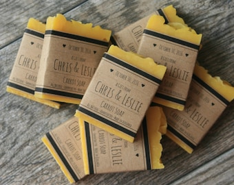 Custom Soap Wedding Favors - All-Natural Soap Favors, Bridal Shower, Baby Shower Favors - Handmade  Mini Soap Bars - Personalized favors