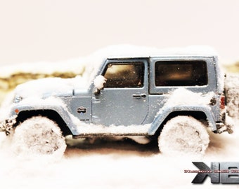 1:43 Snow Covered Mountain Jeep/Truck