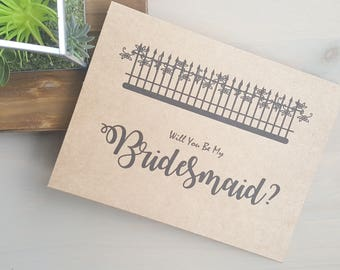 Will You Be My Bridesmaid? Bridesmaid Gift, Country Wedding