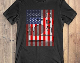 Quilting T-Shirt Gift: American Flag