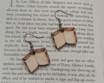 Open Book Earrings