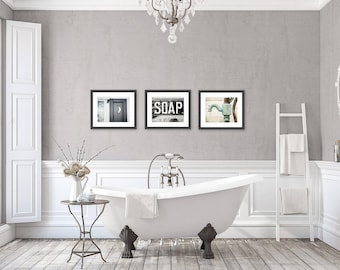 Exceptional Rustic Bathroom Wall Decor, Bathroom Wall Art Set Of 3 Prints Or Canvas Set,