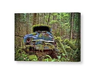 Car Decor, Car Wall Art, Old Cars, Old Truck, Canvas Art, Car Lover Gift, Vintage Cars, Classic Cars, Rust, Rustic Decor, Canvas Wall Art