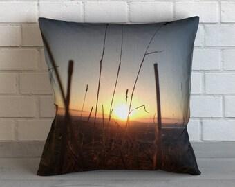 New Zealand Sunset Pillow