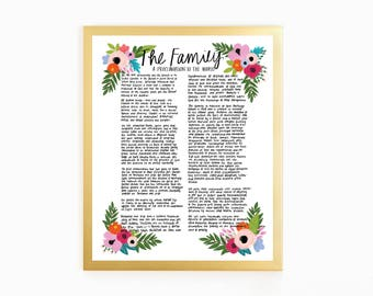 Hand-Written, Flower-filled Family Proclamation