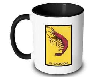 El Camaron Mug Loteria Card Shrimp Mexican Bingo