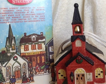 Porcelain  Christmas Village Church