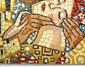 DIY MOSAIC KIT 'The Kiss' by G. Klimt, Gift for her, Original gift idea