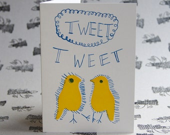 Tweet Tweet Letterpress Card