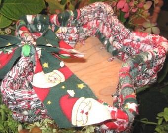 KRINGLE  star shaped textile art BASKET