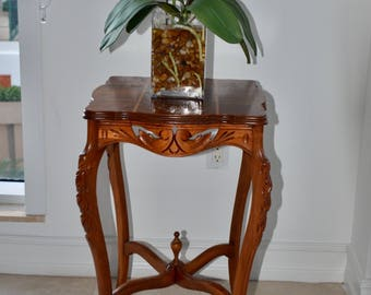 Antique French Style Hand Carved Side Table