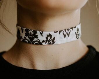 Bandana Print Choker Necklace