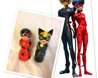 Miraculous Ladybug wooden dolls