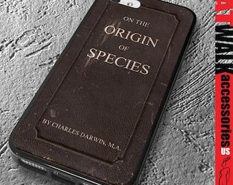 Apple iPhone 5/5S Rubber Case. Origin of Species iPhone 5S Case. Charles Darwin Phone case. Book Cover Phone Case. Phone Accessory. iPhone 6