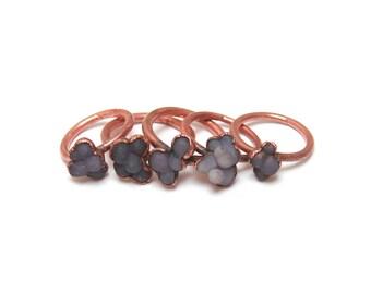 Grape Agate Ring // Grape Agate and Copper Ring // Grape Agate Statement Ring // Purple Stone Ring // Grape Ring // Globular Purple Ring