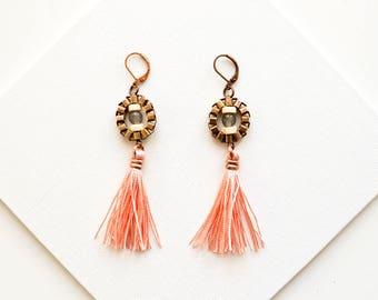 Tassel Earrings, Boho Modern Earrings, Long Earrings, Fringe Earrings, Hippie Earrings, Bridesmaid Earrings, Gift For Sister, Summer Earring