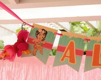 Luau Aloha Banner