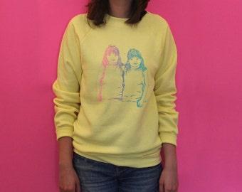 TWIN HUG Yellow Sweatshirt